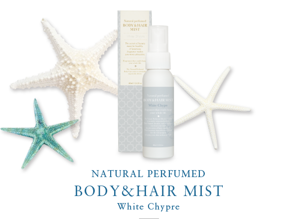NATURAL PERFUMED BODY&HAIR MIST White Chypre